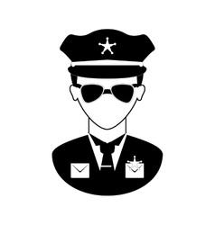 police icon image vector image