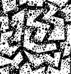Retro grunge seamless pattern in black and white vector image