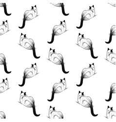 Seamless background lying domestic siamese vector