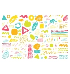 Set of hand drawn scribbles vector image