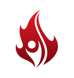 simple flame life vector image