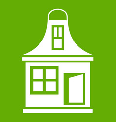 small house icon green vector image