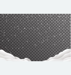 Snowdrifts winter christmas new year decoration vector