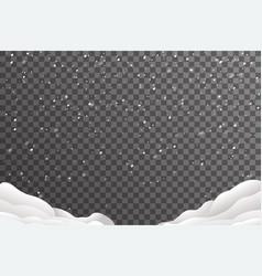 snowdrifts winter year decoration vector image