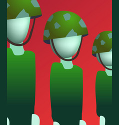 Soldiers stand still llustration vector