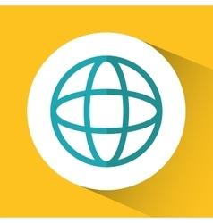 Sphere global communication design vector
