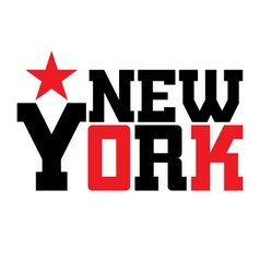 T shirt typography New York star vector image