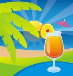 tequila sunrise vector image