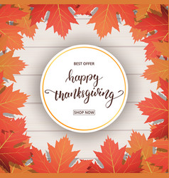 Thanksgiving day happy calligraphy vector