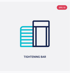 two color tightening bar icon from gym and vector image