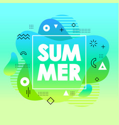 unique summer card with blue gradient background vector image