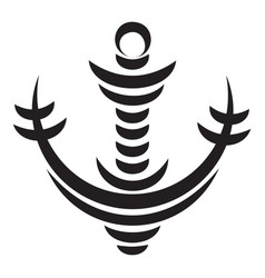 wave anchor icon simple style vector image
