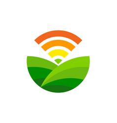 Wifi farm logo icon design vector
