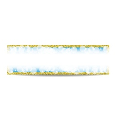 Winter horizontal banner template with golden vector