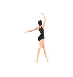 young slim and beautifull ballerina dancing vector image