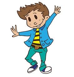 boy dancing vector image