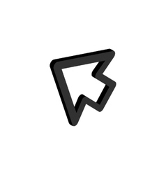 Cursor function icon isometric 3d style vector image vector image