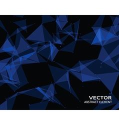 Digital background with blue geometric particles vector image vector image