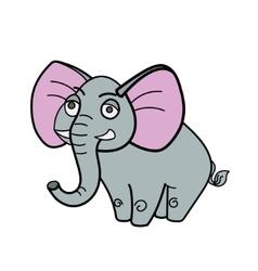 Elephant african savannah cartoon vector
