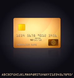 Gold Credit Card Icon vector image