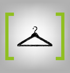 hanger sign black scribble vector image