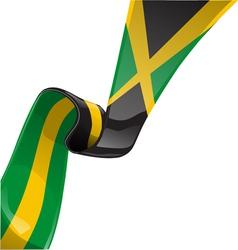 jamaican RIBBON FLAG vector image vector image