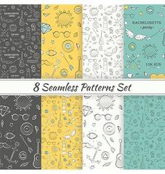 Patterns Sea Summer Hipster Hand Drawn Seamless vector image vector image