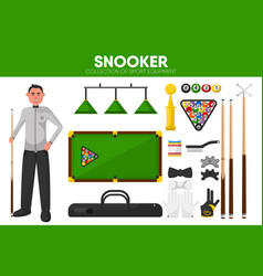 snooker billiards sport equipment pool player vector image vector image