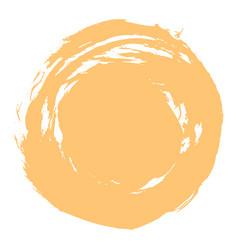 yellow brush stroke circle shape vector image vector image