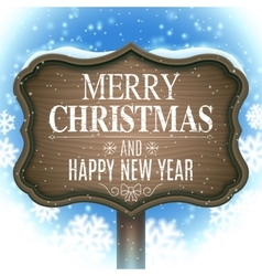 Christmas and New Year Signboard vector image vector image