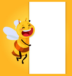 honey and bee character honey vector image