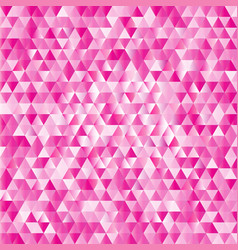 pink abstract triangles background vector image