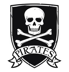 pirates emblem vector image vector image