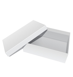 White blank Package Box Opened with the cover vector image vector image