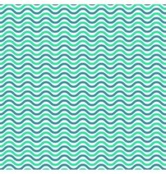 Aqua blue waves seamless pattern vector image