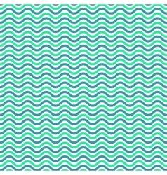 Aqua blue waves seamless pattern vector image vector image