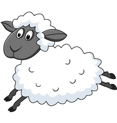 cute sheep cartoon vector image