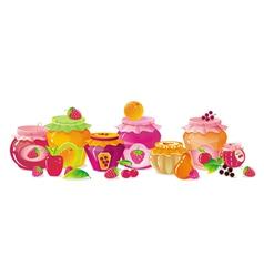 Fruit Jams vector image vector image