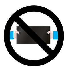 no game digital tablet vector image vector image