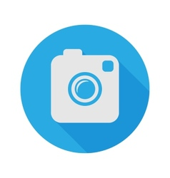 Photo or Video Camera Flat Style With Long Shadow vector image