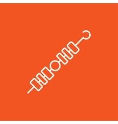 Shish kebab line icon vector image vector image