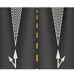 The arrows on the lane vector image
