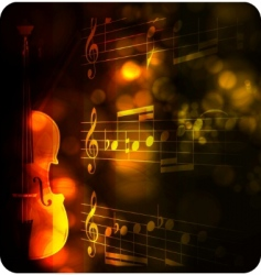 vintage violin silhouette with note vector image vector image