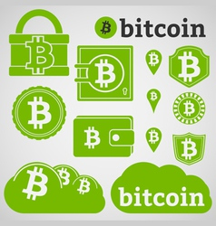 Bitcoin Icons vector image vector image