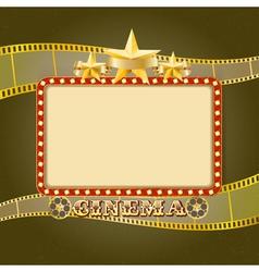 cinema banner Retro vector image vector image