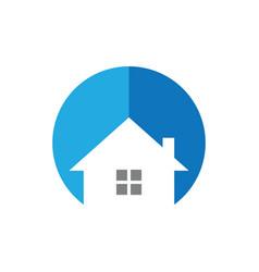 circle house logo image vector image vector image