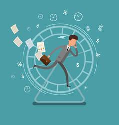 concept of busy business people vector image