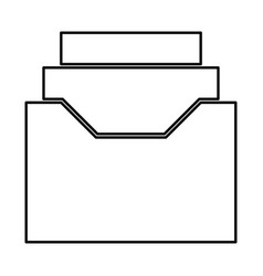 documents archieve or drawer black icon vector image vector image