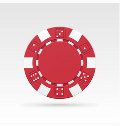 red casino chip vector image
