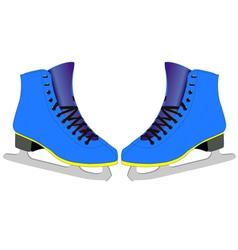 skates for figure skaters vector image vector image